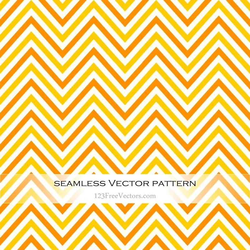 Orange and Yellow Chevron Seamless Pattern