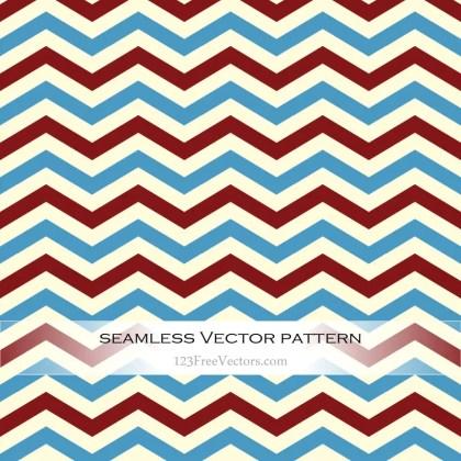 Retro Zigzag Seamless Pattern Vector