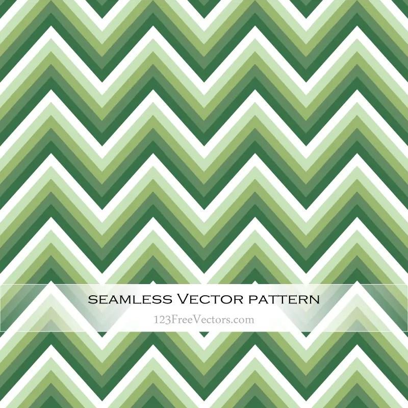 Green Zigzag Seamless Pattern Vector