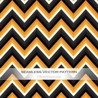 Orange and Black Zig Zag Seamless Pattern