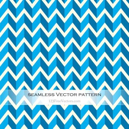 Light Blue Seamless Zigzag Pattern Vector