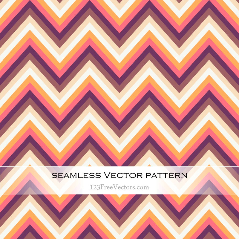 Retro Zig Zag Chevron Pattern Vector