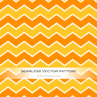 Orange and Yellow Seamless Chevron Pattern Background