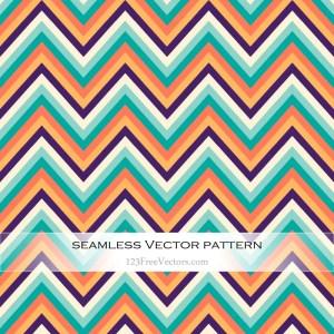 Retro Zig Zag Pattern Vector