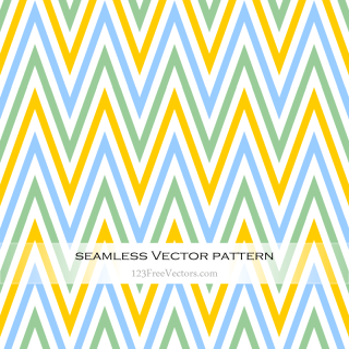 Green Blue and Yellow Seamless Chevron Pattern
