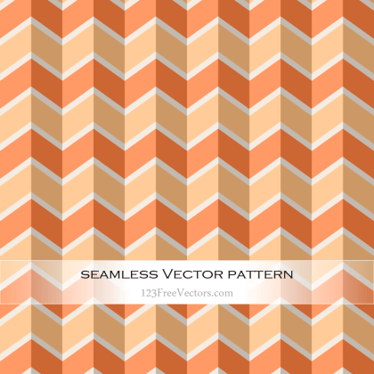 Orange Chevron Seamless Pattern Vector
