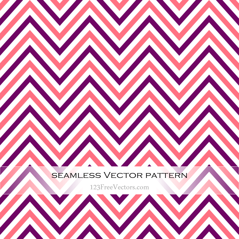 Colorful Zigzag Chevron Seamless Pattern Background Vector