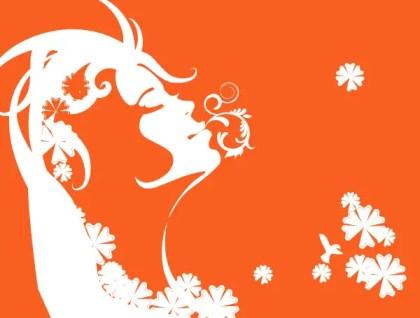 Beautiful Swirl Girl Vector