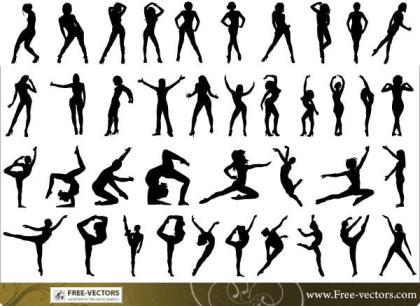 Free People Silhouettes Vector-2