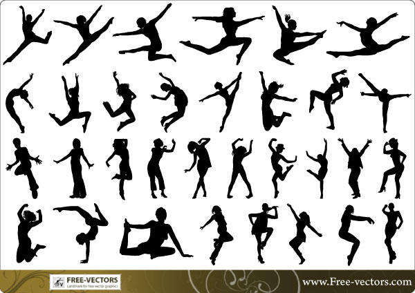 Free People Silhouettes Vector-3