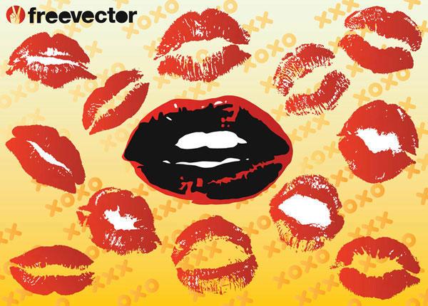 Free Kiss Print Vectors