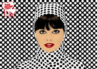 Pop Art Girl Vector Free