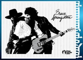 Bruce Springsteen Vector Art
