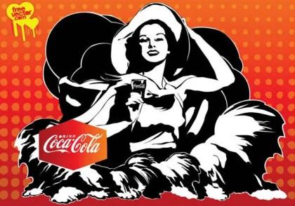 Coca-Cola Girl Free Vector Art