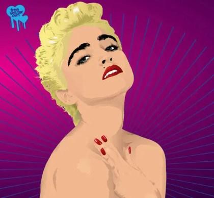 Madonna Free Vector Art