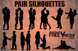 Love Couple Silhouettes