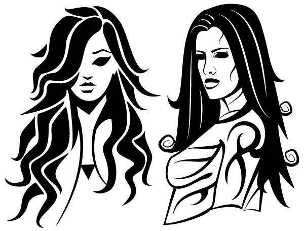 Beauty Girls Free Vector Art