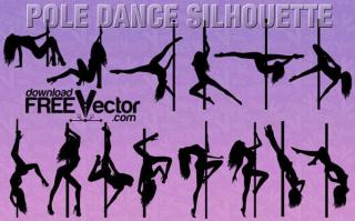 Women Pole Dancer Silhouette Clip Art
