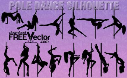 Women Pole Dancer Silhouette Clip Art