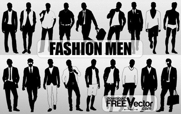 Men Fashion Silhouette Vector Free