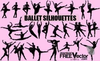 Ballet Dancer Silhouette vector free