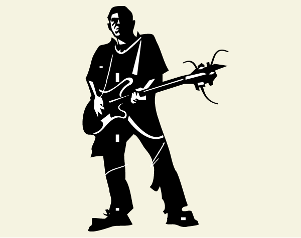Guitarist Silhouette Free Vector