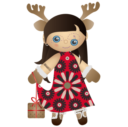 Miss Santa Claus – Christmas Vector Freebie