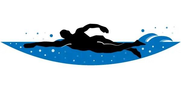Swimmer Vector Clip Art