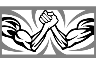 Arm Wrestling Vector