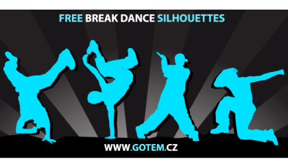 Breakdance Silhouettes Free Vector