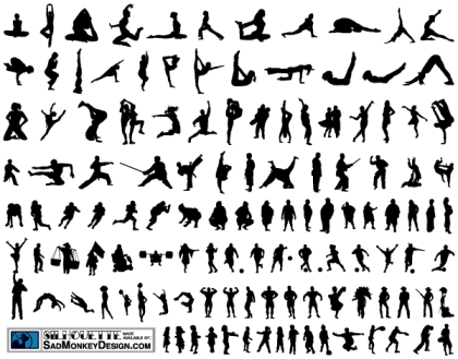 100+ People Silhouettes Free