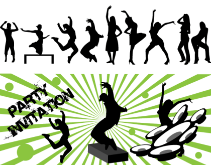 Free Vector Art Dance Party Silhouettes