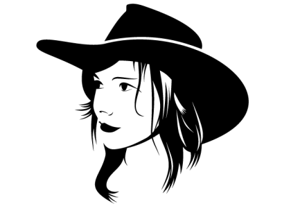 Cowgirl Free Vector Image