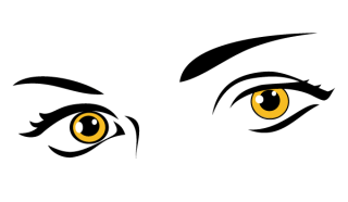 Yellow Eyes Free Vector
