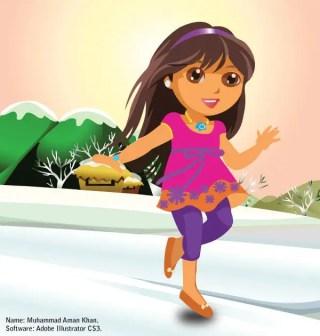 Free Dora Vector Illustration