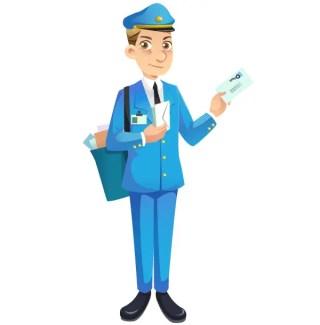 Free Mailman Vector