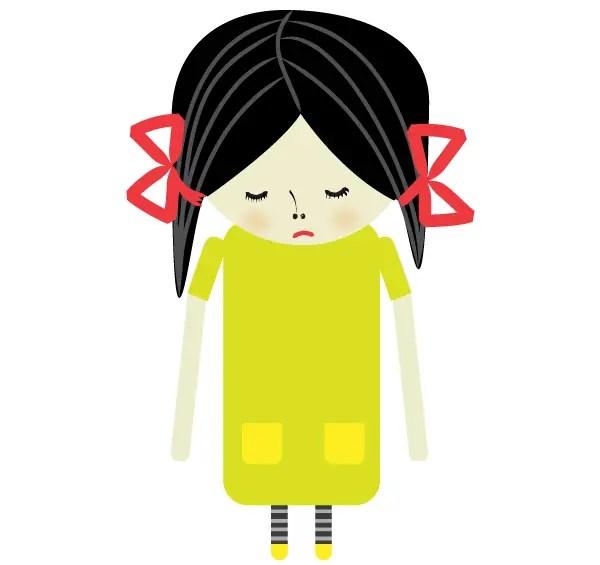 Sad Girl Vector Image