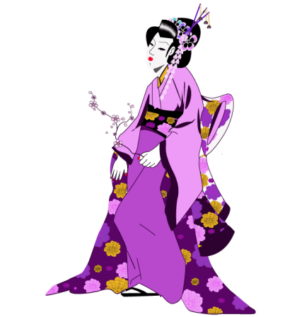 Japanese Geisha Girl Vector Free