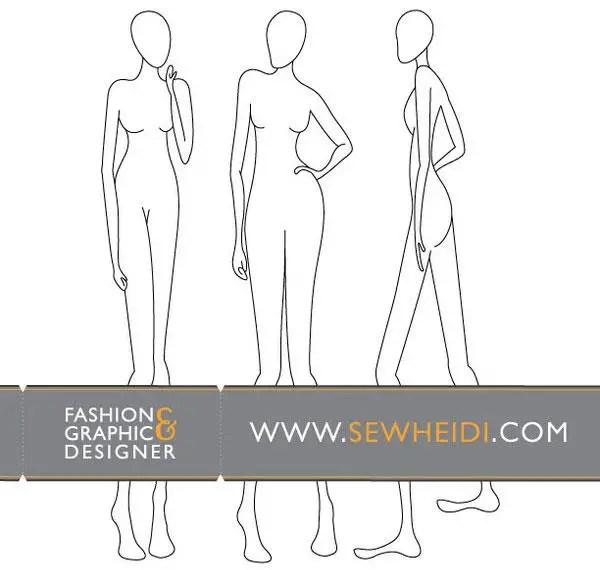 Female Fashion Croquis – Blank Fashion Sketches