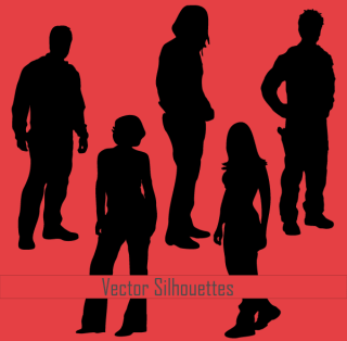 Free Young People Vector Silhouettes