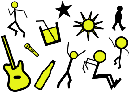 Fun and People Resources for Kids Drawing Style Vectors