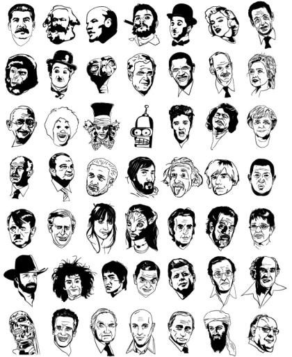 Sketchy Faces: Free Celebrity Vectors