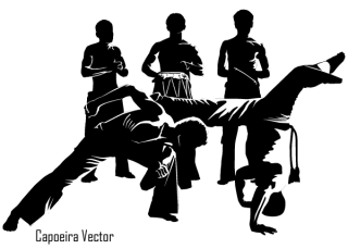 Capoeira Dancer Silhouettes Vector Free