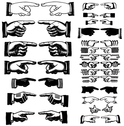 Free Pointing Hands Vector Art