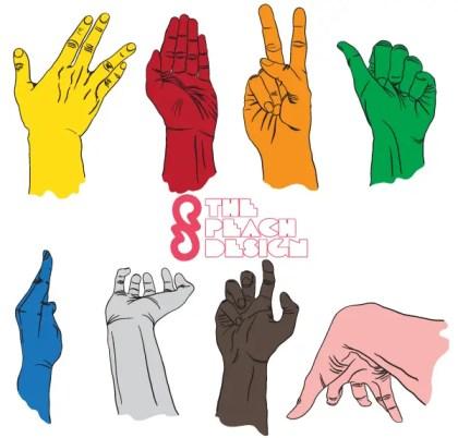 Hand drawn Hands Vector Illustrator Pack Free