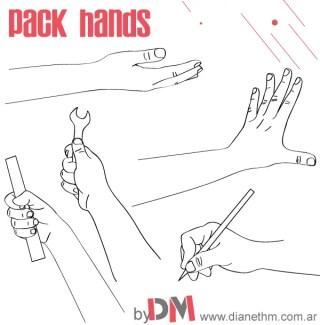 Working Hands Vector Image Free