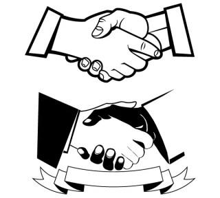Handshake Free Vector Art