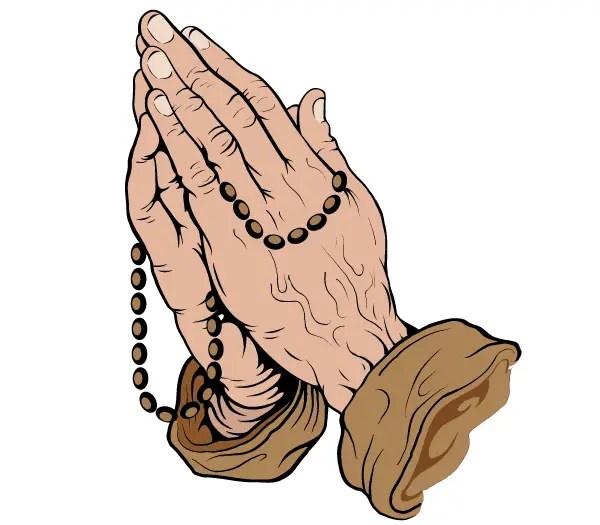 Praying Hands Vector Art Free