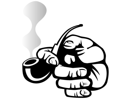Hand Holding a Smoking Pipe Vector Art