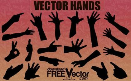 Free Vector Hands Silhouettes